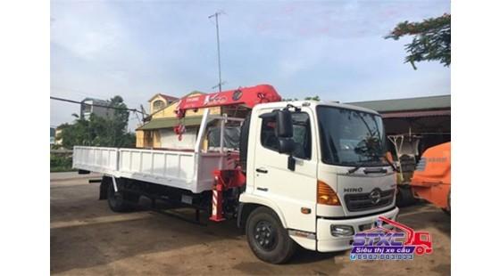 xe cẩu 5 tấn hino fc9jlta gắn cẩu unic urv370
