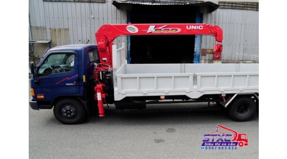 xe cẩu hyundai 6 tấn hd120 gắn cẩu unic 340