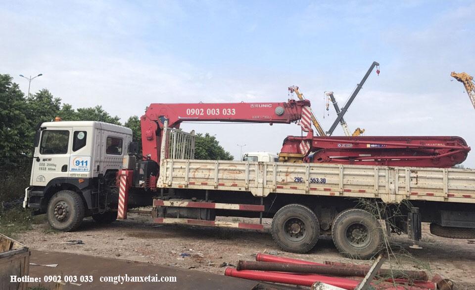 Xe tải gắn cẩu Unic 12 tấn
