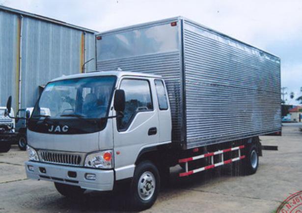 xe tải jac 6t4 thùng kín